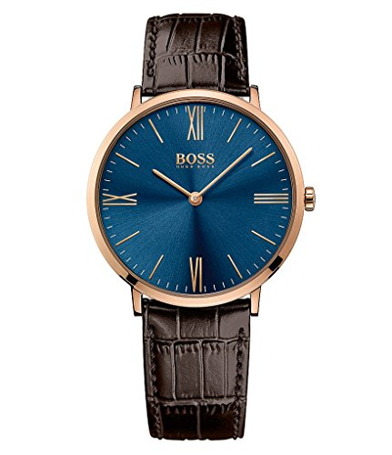Hugo Boss Jackson 1513458 Blue / Dark Brown Leather Analog Quartz Men's Watch