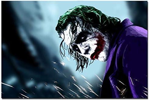 zhuzhuwen Rahmenlos Joaquin Phoenix Poster druckt Joker Poster Filmkunst Leinwand /Ölgem/älde Wandbilder f/ür Wohnzimmer Wohnkultur  60x90cm