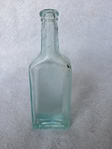 Vintage Cork Light Green Caster Oil Bottle #2