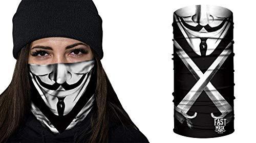 Fast Mask Tubular Bandanas With Face Shielding Protection Unisex - Anonymous (Anonymous Paintball Mask)