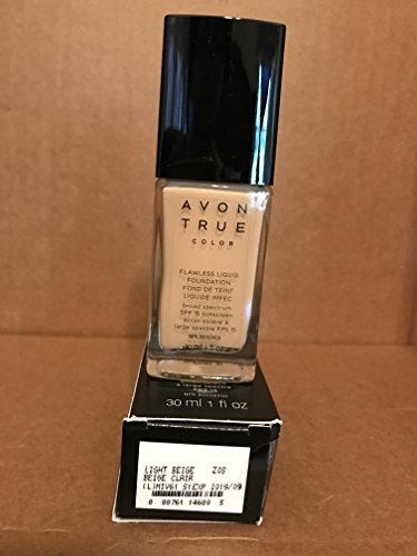 True Color Liquid Foundation - Avon TRUE Color Ideal Flawless Liquid Foundation broad spectrum SPF 15 sunscreen LIGHT BEIGE