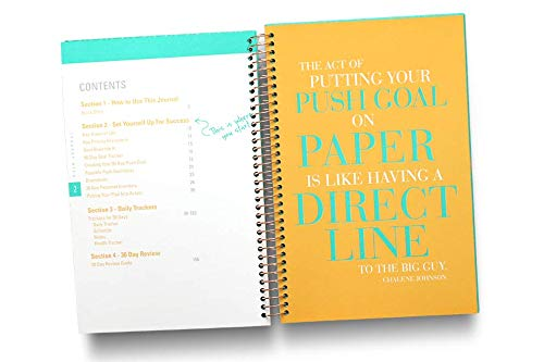 A 90-day, Undated, All-In-One Life Planner/Goal Setter/Notebook/Organizer/Scheduler/Journal Book, 3 Colors/Pack, Each Journal: 160 Pages-Quality Paper, 0.9 Lbs, 7x9 - Fits Into Your Bag by PUSH Journal (Image #4)