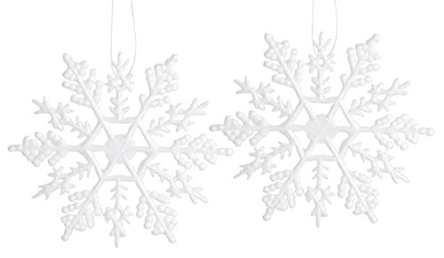 Darice Holidays Glittery Snowflakes Piece