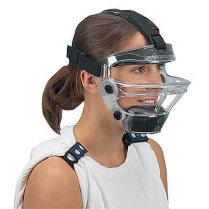 Game Face Medium Clear Sports Safety Mask with Black T-Harness by Game Face