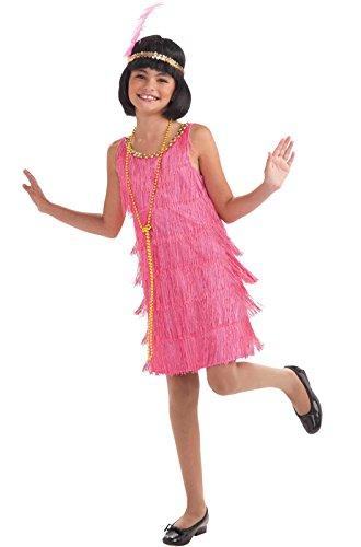 Forum Novelties Little Miss Flapper Child's Costume, Pink, Medium (Flapper Costume For Girls)