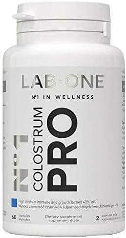 LAB ONE N°1 Colostrum PRO - 40% IgG 400 mg - 60 cápsulas