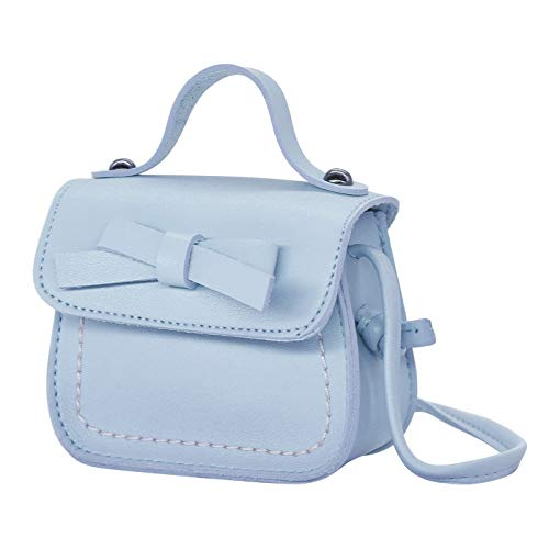 HDE Small Fashion Purse for Little Girls Pastel Toddler Kids Bag Cute Bow ()