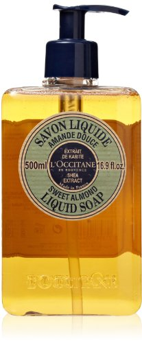 L'Occitane Shea Butter Sweet Almond Liquid Soap, 16.9 fl. oz.