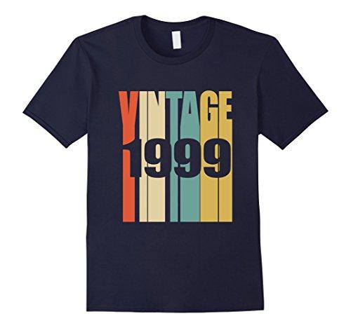 Mens Retro Vintage 1999 T-Shirt 19 yrs old Bday 19th Birthday Tee Large Navy