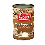Lieber's Mushrooms Stem & Pieces 8 Oz. Pack Of 3.