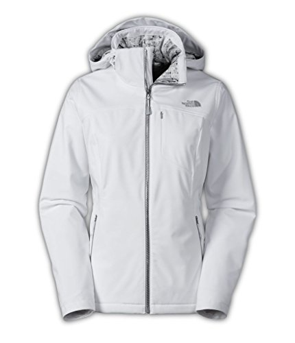 North Face Womens Long Sleeves Hooded Jacket White M