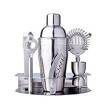 Premium 7 Piece Bar Set & Cocktail Shaker Kit 550ml Stainless Steel Cocktail Shaker Mixer Drink Bartender Kit Bars Set Tools