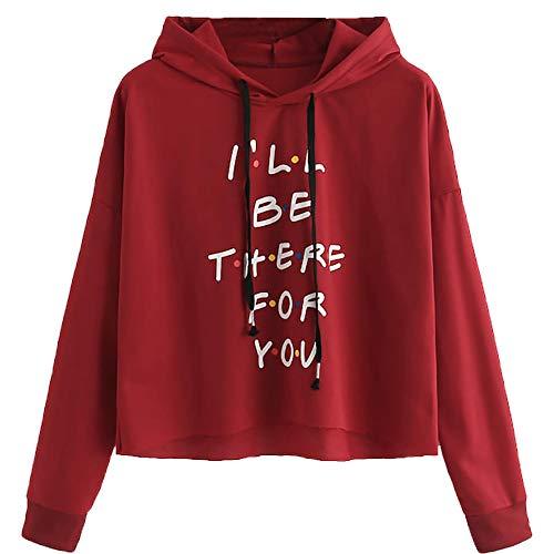 Keliay Bargain Fashion Women Long Sleeve Sweatshirt Hoodie Letter Print Pullover Top Blouse