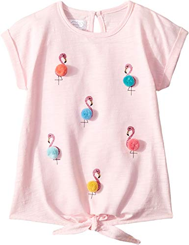 (Mud Pie Baby Girl's Flamingo Tees (Infant/Toddler) Pink Small )