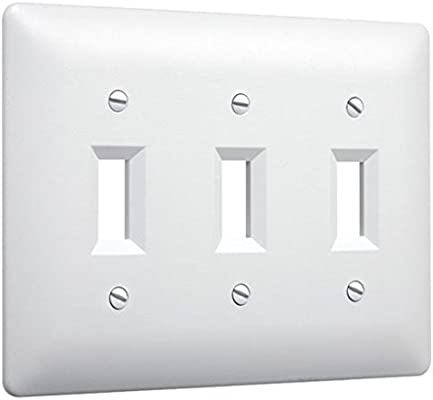 Taymac 4440w Paintable Triple Toggle Light Switch Wall Plate Cover