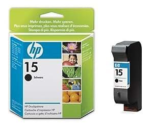 HP Cartucho negro de inyección de tinta HP 15, alta capacidad 15 Inkjet Print Cartridges, 0 - 40 °C, 157 x 117 x 26 mm, 140 g, 0.092  0.107 kg (0.203  0.236 libras), 119 x 26 x 86 mm