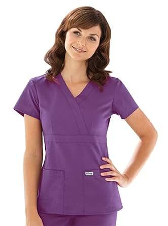 Grey's Anatomy 4153 3 Pocket Mock Wrap (Grapevine, 2XS)