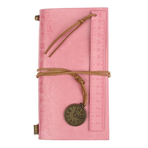 Vintage Leather Planner JoopeeClassic Vintage Leather Bound Blank Pages Journal Diary Notebook Pink (2015 Planner Weekly Kawaii)