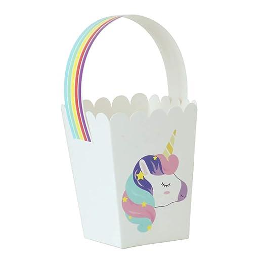 Kumkey 50x Unicornio Bolsa de Papel Portátil Caja de Dulces Creativo Recuerdo Caja de Regalo de Joyería para Boda Fiesta de Cumpleaños Graduación Día ...