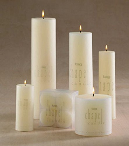 Tag 100063 3 by 4-Inch Unscented Long Burning Pillar Candle, Ivory
