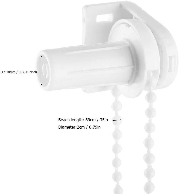 Raccords adaptateur /à rouleaux rouleaux Ensemble de remplacement de lembrayage Rouleau cha/îne /à perles Couvre-rideaux des fen/êtres 17mm