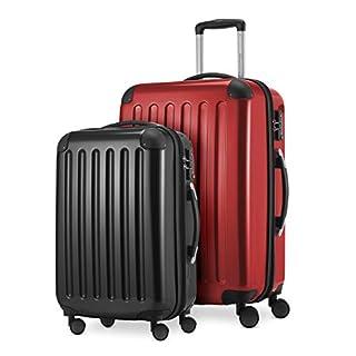 Hauptstadtkoffer Luggage Set, Red-black