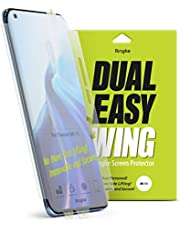 Ringke Dual Easy Wing متوافق مع Xiaomi Mi 11 غطاء حماية جوانب شاشة كامل HD واضح - 2 حزمة