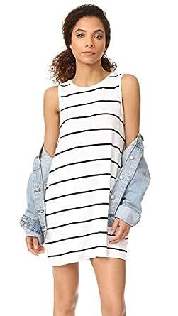 BB Dakota Women's Avigail Striped Tank Dress, White, Medium