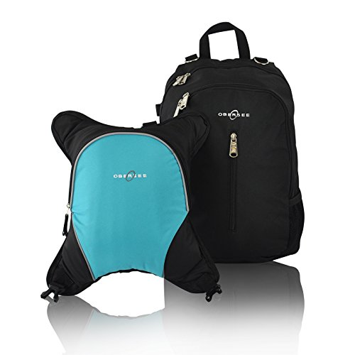 Turquoise And Black Diaper Bag - 6