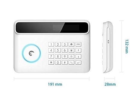 E-TIGER - S4-CV-EU -Sistema de seguridad inalámbrico con transmisor GSM / PSTN con cámara HD para iOS / Android