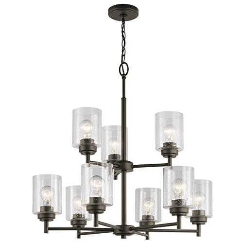 Chandeliers 9 Light With Olde Bronze Finish Steel Material Medium 27 inch 675 Watts -