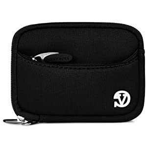 VanGoddy Mini Glove Sleeve Pouch Case for Canon PowerShot S120, S110, S100, S95, S90 Point & Shoot Digital Cameras (Black) by SumacLife