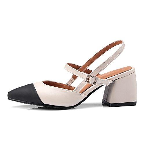 BalaMasa Womens Sandals Closed-Toe Fabric Huarache Urethane Sandals ASL04394 White gho839cl0