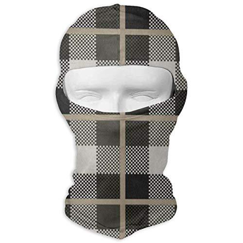 Balaclava Vivid Color Plaid Check Grid Full Face Masks Motorcycle Neck Hood