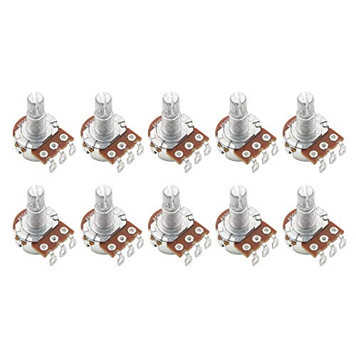 Mini Potentiometer - Mini A500k ELectric Bass Guitar Potentiometers Audio Tone Switch Shaft 18mm Pack Of 10