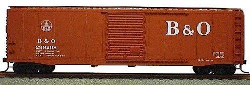 HO RTR 50' AAR Riveted Box B&O ACU95022