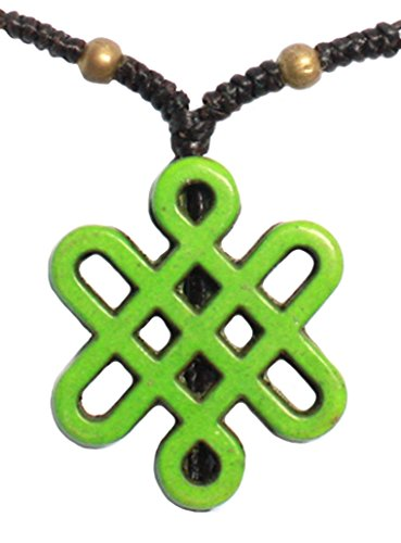 Bijoux De Ja Handmade Green Celtic Knot Pendant Station Necklace 16 - Near Jobs Macy's In Me