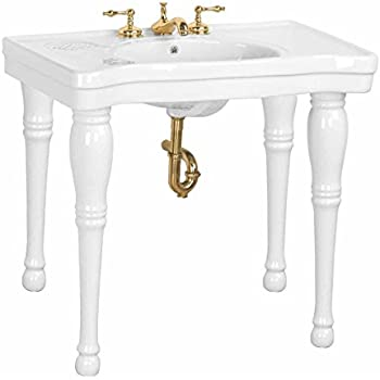 Barclay 968 Wh Milano Console Table With 8 Inch Widespread