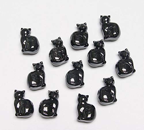 25 Black Cats Shaped Pony beads Made n USA Halloween Crafts Jewelry Costume Kids. Perfect for Earrings, Necklaces or Bracelets
