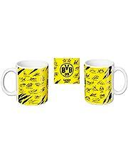 Borussia Dortmund BVB kopje/koffiemok handtekening Team 20/21 thuisshirt autogrammen