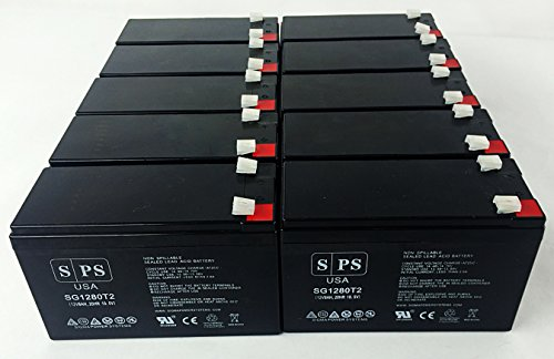 Replacement Battery for APC Professional 12V 8Ah UPS Battery ( 10 pack) by SPS (Image #1)