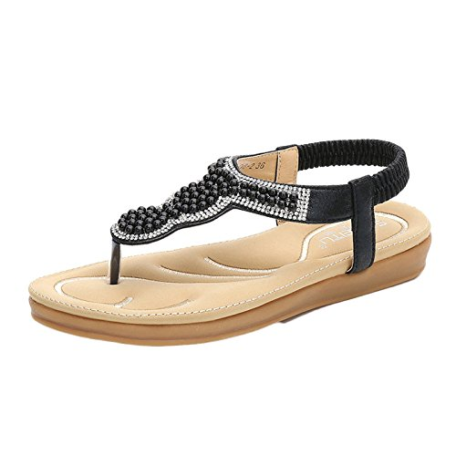Chanclas Paseo Zapatillas Beach Negro Verano Deportivo Zapatos Sendero Bohemia Mujer Unisex De De Sandalias De Pearl qxqrwfaA