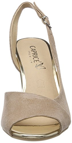 cost online Caprice Women's 28314 Sling Back Sandals Beige (Beige Metallic 424) clearance store online clearance lowest price buy cheap shopping online izwAskNo