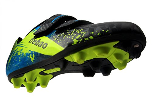 Pictures of T&B Kid Soccer Cleats Light Weight comfort Black/ Neon Green/Blue 3