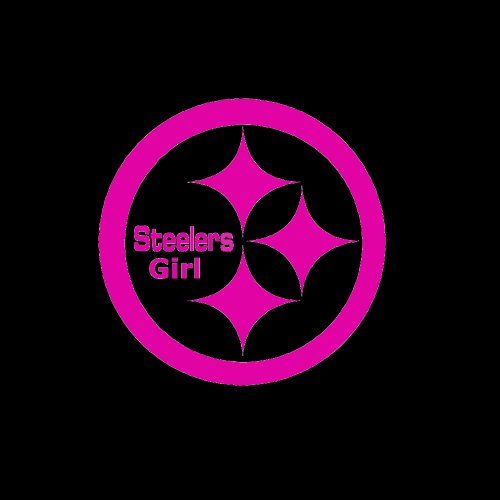 "Pittsburgh Steelers Girl Emblem Car Window Decal Sticker Raspberry Pink 5"" at Steeler Mania"