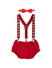 Baby Boy Cake Smash First Birthday Y Back Clip Suspender Bloomers Bowtie Outfits