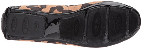 Anne Klein Mujeres Buttons Fabric Ballet Flat Natural Multi / Tela Negra