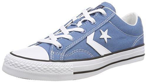 Converse Unisex Adults' Star Player OX Aegean Storm/White/Black Trainers, Blue (Aegean Storm/White/Black 442), 16 UK