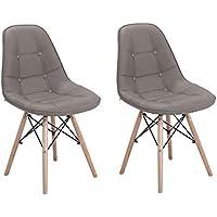 Conjunto com 2 Cadeiras Eames Eiffel Botonê Fendi