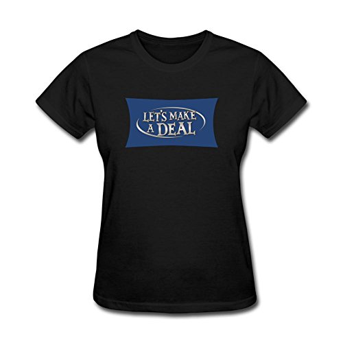 XIULUAN Women's Let's See A Deal Logo T-shirt Size XL ColorName Short Sleeve